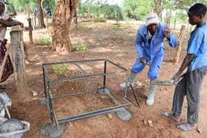The Water Project:  Cementing The Handwashing Station Platform