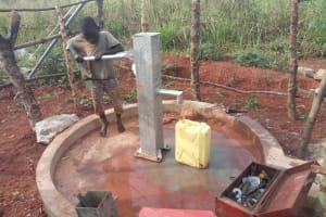 The Water Project: Katugo Community A -  Test Pumping