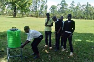 The Water Project: Lwanda Secondary School -  New Handwashing Stations