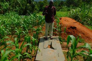 The Water Project: Koitabut Community, Henry Kichwen Spring -  Sanitation Platform