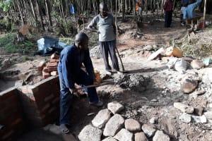 The Water Project: Upper Visiru Community, Wambosani Spring -  Spring Construction