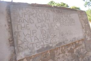 The Water Project: Katuluni Community B -  Finished Sand Dam