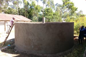 The Water Project: Shihimba Primary School -  Tank Construction