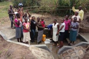 The Water Project: Shirugu Community, Shapaya Mavonga Spring -  Water Flowing