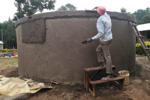 The Water Project: Shivanga Primary School -  Tank Construction