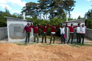 The Water Project: Kaimosi Demonstration Secondary School -  Finished Latrine