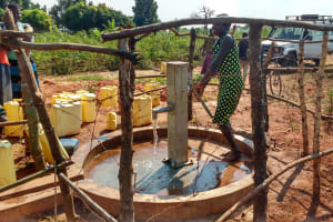 The Water Project: Katugo Community A -  Water Flowing