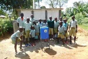 The Water Project: Eshisenye Primary School -  Latrines And Handwashing Station