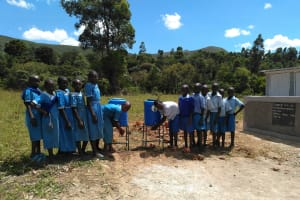 The Water Project: Shivanga Primary School -  Handwashing Stations