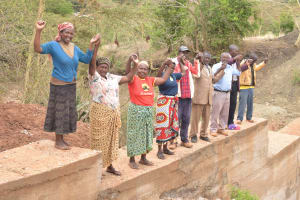 The Water Project: Mbakoni Community -  Finished Sand Dam