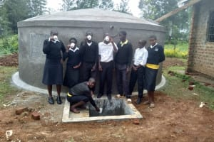 The Water Project: Lwanda Secondary School -  Finished Tank