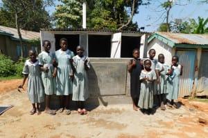 The Water Project: Eshisenye Primary School -  Finished Latrines