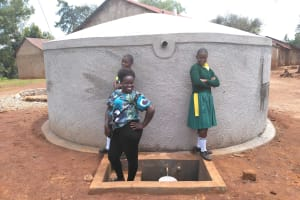 The Water Project: Imbale Primary School -  Flowing Water