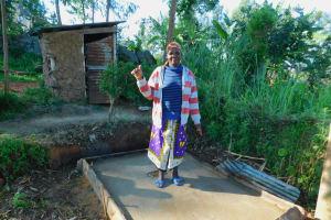 The Water Project: Koloch Community, Solomon Pendi Spring -  Sanitation Platform