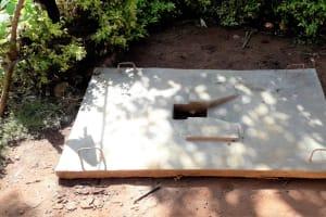 The Water Project: Upper Visiru Community, Wambosani Spring -  Finished Sanitation Platform