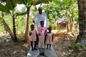 The Water Project: Elutali Community, Obati Spring -  Sanitation Platform