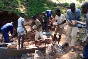 The Water Project: Chepnonochi Community, Chepnonochi Spring -  Spring Construction
