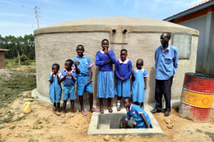 The Water Project: Naliava Primary School -  Flowing Water