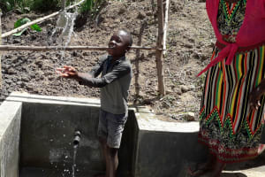 The Water Project: Shitoto Community, Mashirobe Spring -  Flowing Water