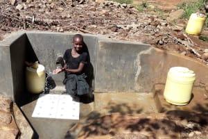 The Water Project: Upper Visiru Community, Wambosani Spring -  Water Flowing