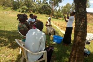 The Water Project: Emaka Community, Ateka Spring -  Handwashing Training