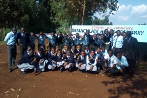 The Water Project: Immaculate Heart Secondary School -  Students Pose At School Gate