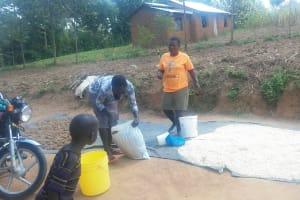 The Water Project: Emukangu Community, Okhaso Spring -  Meeting Community Members