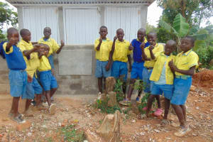 The Water Project: Lugango Primary School -  Finished Latrines