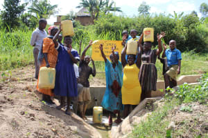 The Water Project: Emaka Community, Ateka Spring -  Thank You