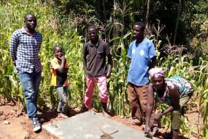 The Water Project: Chepnonochi Community, Chepnonochi Spring -  Finished Sanitation Platform