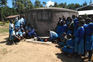 The Water Project: Shivanga Primary School -  Flowing Water