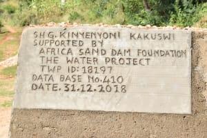The Water Project: Ngitini Community B -  Finished Sand Dam