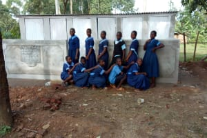 The Water Project: Shihimba Primary School -  Finished Latrines