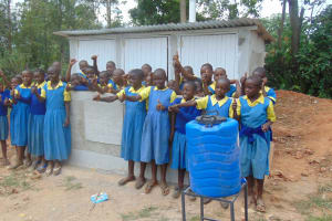 The Water Project: Lugango Primary School -  Finished Latrines And Handwashing Station