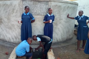 The Water Project: Shihimba Primary School -  Finished Tank