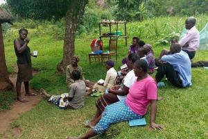 The Water Project: Shirugu Community, Jeremiah Mashele Spring -  Dental Hygiene Training
