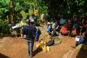 The Water Project: Samisbei Community, Isaac Rutoh Spring -  Training