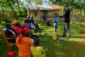 The Water Project: Koitabut Community, Henry Kichwen Spring -  Handwashing Training
