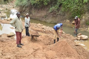 The Water Project: Ilinge Community E -  Well Construction