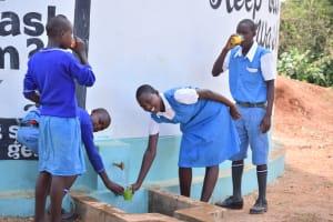 The Water Project: Muunguu Primary School -  Water Flowing