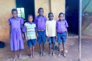 The Water Project: Munyanza Primary School -  Students Outside Their Classroom