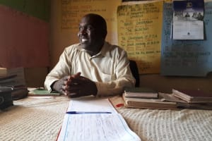 The Water Project: Kitumba Primary School -  Headteacher Aywa Agevi