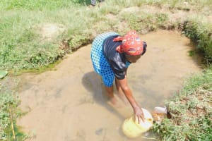 The Water Project: Sichinji Community, Kubai Spring -  Fetching Water