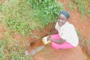 The Water Project: Busichula Community, Marko Spring -  Fetching Water