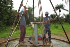 The Water Project: Mondor Community -  Drilling