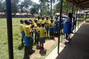 The Water Project: Lugango Primary School -  Handwashing Training