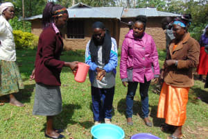 The Water Project: Ivinzo Commuity, Mushianda Spring -  Handwashing Training