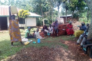 The Water Project: Asimuli Community, John Omusembi Spring -  Water Handling Training