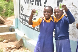 The Water Project: Wee Primary School -  Water Flowing