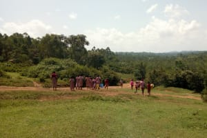 The Water Project: Ivumbu Primary School -  Going To Fetch Water